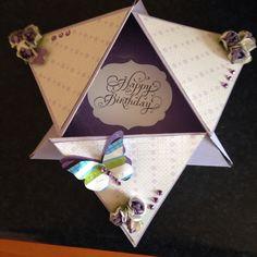 Star fold card I made opened
