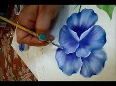 Pintar petunias y estarcido - YouTube
