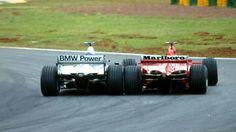 #6 Juan Pablo Montoya...BMW Williams F1 Team...Williams FW23...Motor BMW P80 V10 3.0...#1 Michael Schumacher...Scuderia Ferrari Marlboro...Ferrari F2001...Motor Ferrari 050 V10 3.0...GP Brasil 2001