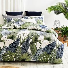 Briscoes - Twill & Co Fern Duvet Cover Set Ferns, Duvet Cover Sets, Bobs, Design Trends, Comforters, Pillow Cases, Decorating, Blanket, Contemporary