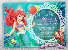 54 Mejores Imágenes De Invitaciones Sirenita Invitaciones