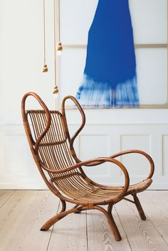 A Gio Ponti Chair From 1963 Is Paired With Vibrant Daniel Lergon Painting And Ball