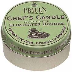 Prices Chefs Candle In A Tin Eliminates Cooking Kitchen Odours & Smells Pack Of 1: Amazon.co.uk: Kitchen & Home