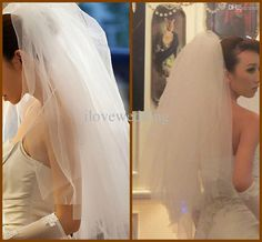 Wholesale Bridal Veils - Buy Sale Promotion! 2013 Cheap Two Tiers Fluffy Tulle Short Bridal Veils Elbow Length Wedding Veil Beads YV-14, $15.0 | DHgate