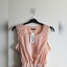 1197599638 BABY PINK CHIFFON DRESS • Baby pink chiffon summer dress - Depop Pink  Chiffon Dress,