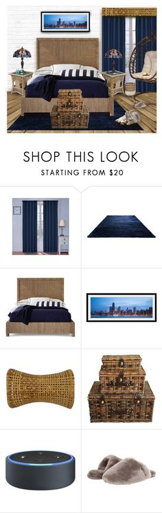 """""""RATTAN BEDROOM"""" by arjanadesign ❤ liked on Polyvore featuring interior, interiors, interior design, home, home decor, interior decorating, Eclipse, Palecek, Amazon and UGG"""