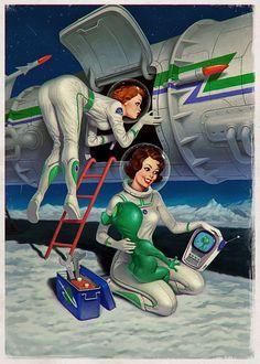 Lady Rocketeer repair women.