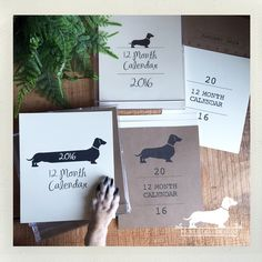 It's the first Monday of 2016 and these desktop calendars are flying off the shelf! Not too late to grab one for yourself or a doxie-loving friend!