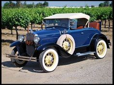 Vintage Cars 1931 Ford Model A Deluxe Roadster - Ford Motor Company, Henry Ford, Vintage Cars, Antique Cars, Vintage Auto, Vintage Diy, Vintage Ideas, 1932 Ford, Ford Classic Cars