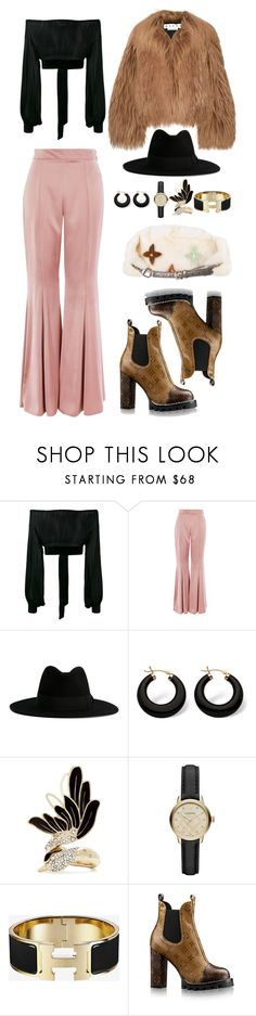 """""""Untitled #4123"""" by fashionhypedaily ❤ liked on Polyvore featuring Yves Saint Laurent, Topshop, Marni, Palm Beach Jewelry, Lanvin, Burberry and Louis Vuitton"""