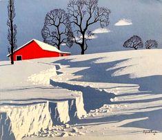 Winter Landscape, Landscape Art, Landscape Paintings, Illustration Vector, Landscape Illustration, Art Illustrations, Poster Design, Art Design, Disney Concept Art