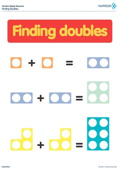 Here's a set of Numicon resources on finding doubles.