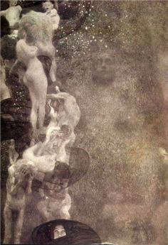 Gustav Klimt (Austrian, 1862 – Philosophie, Destroyed in 1945 Klimt created three paintings for the ceiling of the University of Vienna's Great Hall. Klimt described the first of the. Gustav Klimt, Art Klimt, Art Nouveau, Franz Josef I, Ceiling Painting, Vienna Secession, Foto Art, Claude Monet, Anime Comics