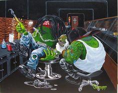 Michael Godard original painting - Ink Slinger by Hallmark Fine Art Gallery La Jolla, via Flickr