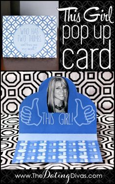 """This Girl"" Pop Up Card  #printables"