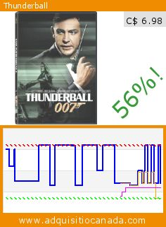 Thunderball (DVD). Drop 56%! Current price C$ 6.98, the previous price was C$ 15.98. http://www.adquisitiocanada.com/mgm-canada/thunderball