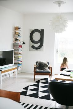 Via AprillAprill | Black and White | Geometric Rug | Playtype Poster