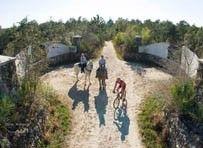 Cross Florida Greenway Land Bridge riders by John Moran