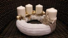 Pezsgő fenyő adventi koszorú, Dekoráció, Otthon, lakberendezés, Karácsonyi, adventi apróságok, Karácsonyi dekoráció, Meska