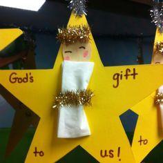 christian Christmas Crafts New craft christmas star 45 Ideas Preschool Christmas Crafts, Nativity Crafts, Christmas Activities, Holiday Crafts, Christmas Crafts For Kids To Make, Church Christmas Craft, Holiday Decor, Jesus Crafts, Bible Crafts