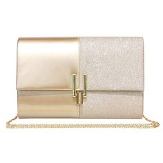 Ladies Metallic Clutch Bag Oversized Mirror Effect Rose Gold Bridesmaid Party