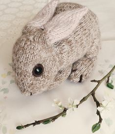 Knitting Pattern for Baby Bunny - Life-size baby bunny toy lies long (tip of nose to tail). Knit flat and joined as you go. Designed by DotpebblesKnits knitting for beginners knitting ideas knitting patterns knitting projects knitting sweater Baby Knitting Patterns, Baby Patterns, Free Knitting, Knitting Toys, Sewing Patterns, Knitting Needles, Stitch Patterns, Afghan Patterns, Clothes Patterns