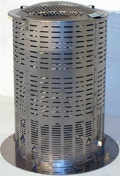 Large Stainless Steel Hi-Temp Burn Barrel - Including Ash Catcher Burn Barrel, Trash Disposal, Mini Farm, Gardening Books, Heating Systems, Lawn And Garden, Catcher, Burns, Projects To Try