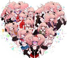 All doing cosplay of junko, but where's naegi?