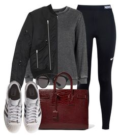 """""""Sin título #11921"""" by vany-alvarado ❤ liked on Polyvore featuring NIKE, Topshop, Yves Saint Laurent, Christian Dior and adidas Originals"""