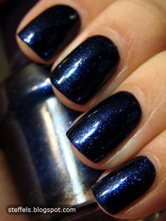 Wow Deep Blue Navy Nails