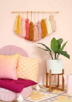DIY Giant Tassel Wall Hanging - A Beautiful Mess