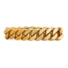 A Retro gold bracelet of flat-top curblink design, in 18k. Cartier, Paris. #05832. 60.30dwt, 93.8gms. Circa 1945