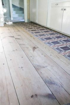 Wooden floor and carpet/tiles Plywood Plank Flooring, Wooden Flooring, Menorca, Beautiful Buildings, Beautiful Homes, Scandi Home, Wall Carpet, Carpet Tiles, Kitchens
