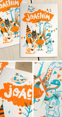 Birth Announcements by Patswerk, via Behance