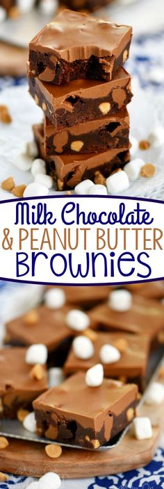 These Milk Chocolate Peanut Butter Brownies are irresistible! So easy to make and wonderfully decadent, these brownies are sure to be a hit at your next gathering!