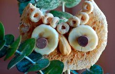 Cereal owl   http://www.recetin.com/buhos-de-cereales-meriendas-sanas-y-divertidas.html
