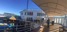 Cruise Ship Canopy Installed