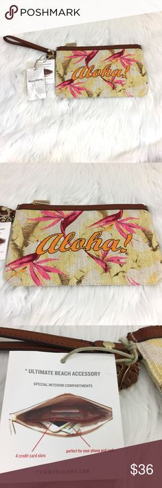 """Tommy Bahama Boca Chica Wristlet in Aloha NWT Tommy Bahama Boca Chica Beach wristlet in Aloha! Measures approximately 10.75"""" x 6.75"""". Great for travel to keep essentials in your beach bag or purse. Tropical and fun!  A must-have if you are planning travel to Hawaii. Tommy Bahama Bags Clutches & Wristlets"""