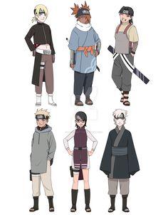 boruto character remake by radrabbiitt Anime Naruto, Naruto Girls, Naruto Uzumaki, Anime Ninja, Sarada Uchiha, Naruto Art, Inojin, Kakashi, Naruto Tattoo