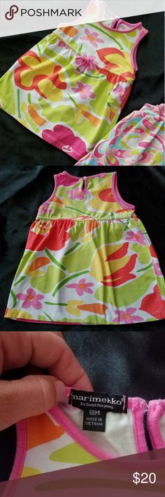 dress by marimekko/sweet potatoes Soo cute! & soft! Sz 18mos Worn once Clean & smokefree home Bright colors similiar to lilly Pulitzer designs By Marimekko & sweet potatoes BUNDLE TO SAVE  check out my other little girls clothes ;) More coming soon! Marimekko Dresses Casual