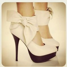 White heels, I WISH MY BACK WOULD LET ME ROCK THESE