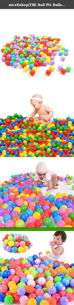 niceEshop(TM) Ball Pit Balls for Baby Kids 50pcs Non-Toxic Crush Proof Ocean Plastic Ball. These plastic ocean balls are great for ball pit, tent, jumping castle, kiddie pool. They are safe to use, non-toxic, no smell, durable and last you a long time without having the air Good touch with smooth seam and surface, perfect for your kids Package include: 50pcs pit ball Please note: 1> niceeshop(TM) is a registered trademark and the only authorized seller of niceeshop branded products. 2>...