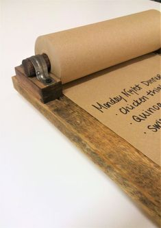 Reclaimed Wood Memo Board with Paper included - Rustic Message Pad for Notes and Lists - Perfect Organizer for Kitchen and Entryway Diy Room Decor For Teens, Diy For Teens, Memo Boards, Diy Paper, Paper Crafts, Office Memo, Diy Cork Board, Retro Furniture, Furniture Stores