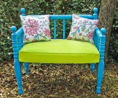 One TOH reader snagged an old spindle headboard for $20 at a thrift shop and found inspiration in her love of the outdoors and created this cheery garden bench. Get the how-to