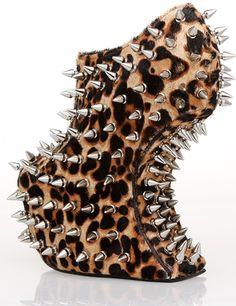 6 3/10 Heel Height 2 1/5 Platform Leopard Shoes