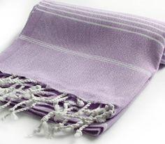 Cacala Pestemal Turkish Bath Towels 37x70 %100 Cotton Lilac