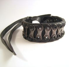 Upcycled Bike Chain Cuff Recycled Bicycle by TheRecycledBicycle, $30.00