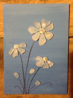 Sea Glass Art/ Canvas Art/ Acrylic Painting/ Semi-Precious Moonstone/ Mixed Media Art/ Engagement Gift/ Wedding Gift on Etsy, $40.00