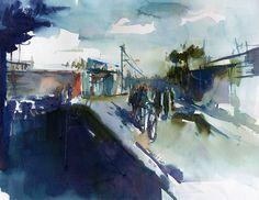 Deep shadows  Watercolor  -Size: 42-58 cm