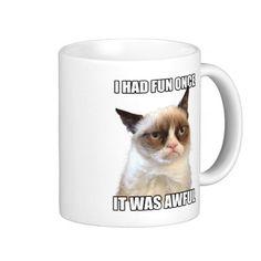 Grumpy Cat Mug - Need this. Hahahaha